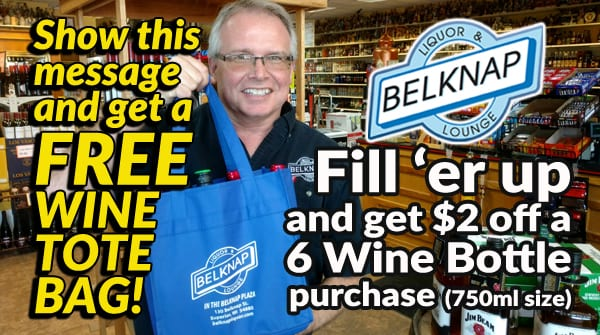 Get a FREE Wine Tote and Save Money at Belknap Liquor
