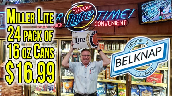 Miller Lite 24 pack of 16 oz Cans now only $16.99
